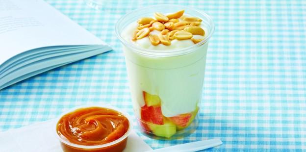 fruit and yogurt parfaits