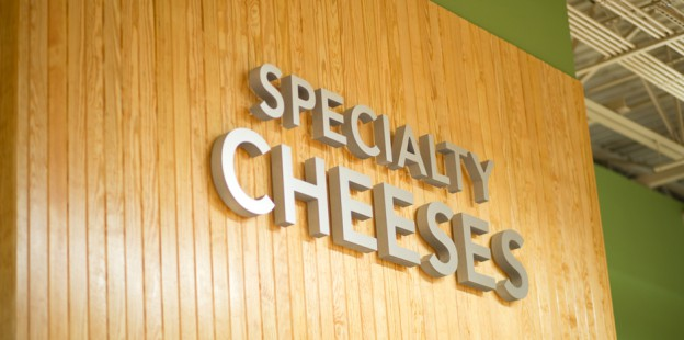Specialty Cheeses deli sign