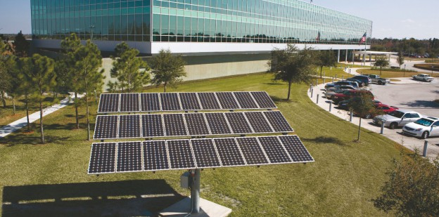 Solar panels installed at Lakeland, FL corporate office