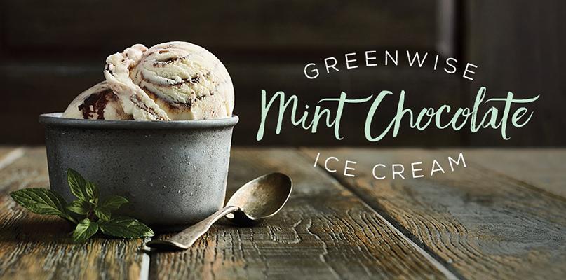 Introducing: Organic GreenWise Mint Chocolate Ice Cream