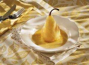Sweet Wine Poached Pear