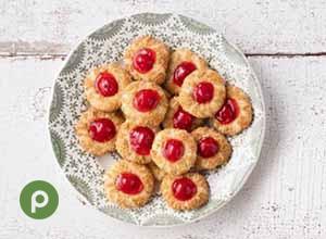 Cherry Pie Thumbprint Cookies