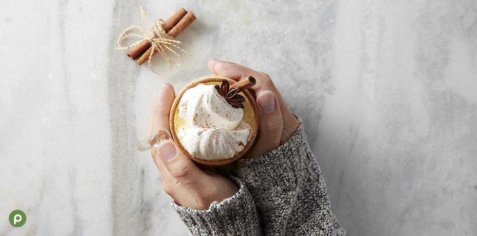 Publix Eggnog with Hands
