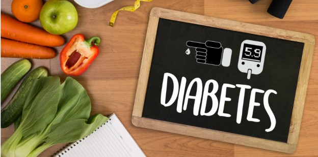 Diabetes Sign With Vegetables