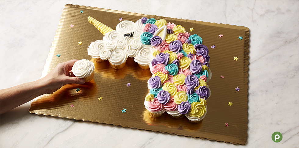 Marvelous Celebrate With Pull Apart Cupcake Cakes Publix Super Market Personalised Birthday Cards Akebfashionlily Jamesorg