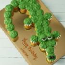 Alligator Pull Apart Cake