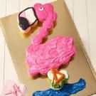 Flamingo Pull Apart Cake