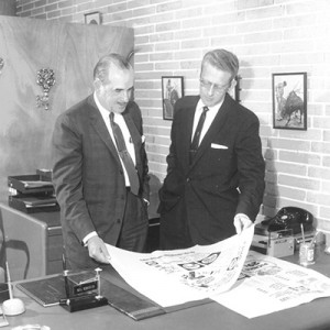 Mr. George and Bill Schroter, Publix's first director of advertising.