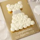 White Dress Pull Apart Cake