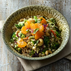 Cashew Broccoli Barley Salad