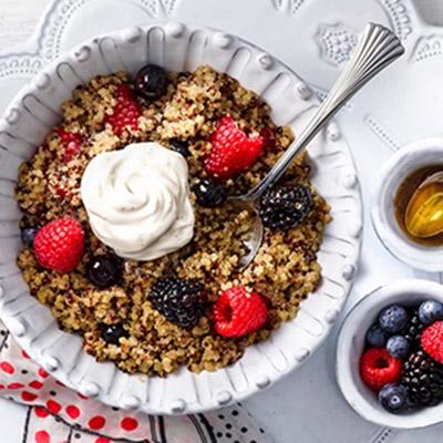 Coconut Berry Breakfast Quinoa