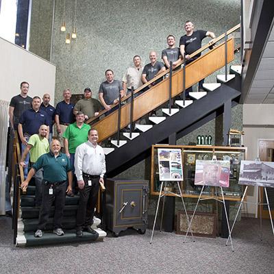 Anthony Bush, Chuck Davis, Dave Bartos and the Publix Facilities Remanufacture Team.