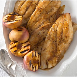 Snapper with Peaches