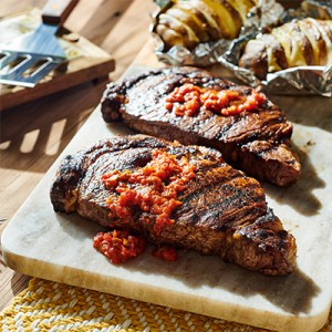 Steaks with Chili Butter