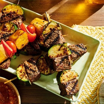 Spicy Beef and Zucchini Skewers