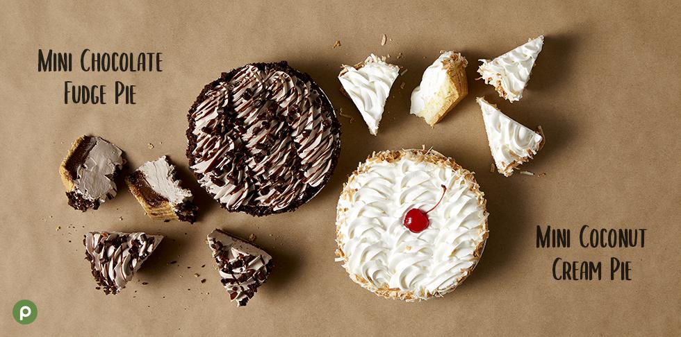 seasonal pies on table