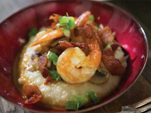 Publix Aprons shrimp and grits recipe served in a bowl