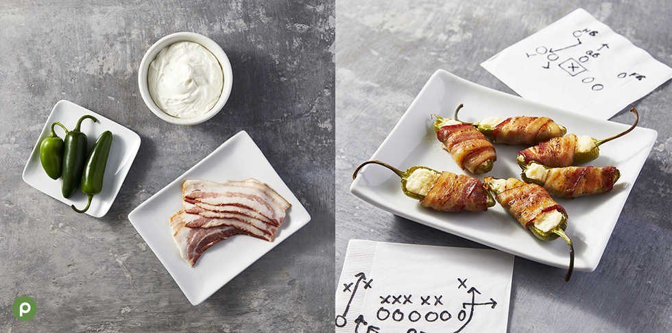 Ingredients shown on how to make jalapeno poppers