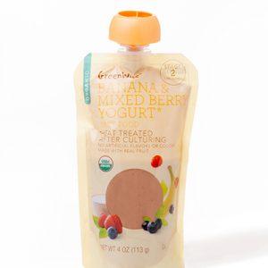 GreenWise Baby Food Banana and Mixed Berry Yogurt Package