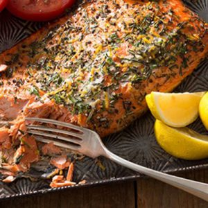 Publix Aprons Lemon-Rosemary Salmon plated