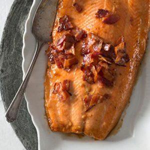 Publix Aprons Maple Brown Sugar Bacon-Glazed Roast Salmon