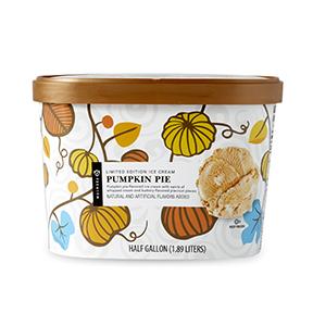 Pumpkin pie ice cream carton