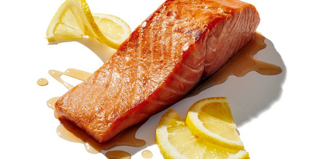 Broiled Citrus Salmon plated