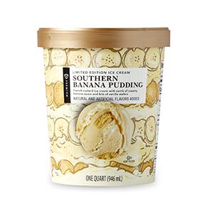 Southern banana pudding ice cream carton
