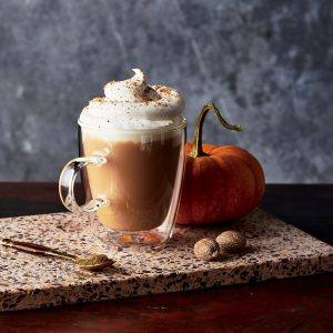 pumpkin spice tea with whipped topping