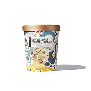 Container of Caramel Praline ice cream