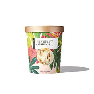 Container of Hula Hula Macadamia Ice Cream