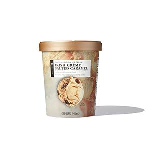 Container of Irish Cream ice cream