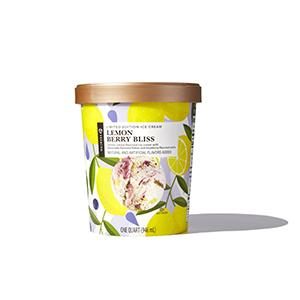 Container of Lemon Berry Bliss ice cream
