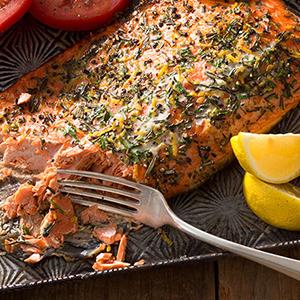 Publix Aprons lemon-rosemary salmon