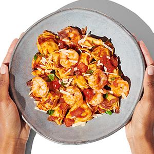 Publix Aprons tomato-basil shrimp tortellini