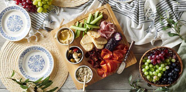 Mediterranean cuisine spread.