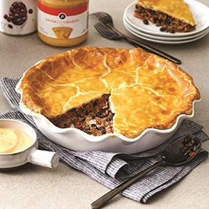 Publix Aprons Zesty Southwestern Turkey Pie with Queso-Sour Cream Sauce