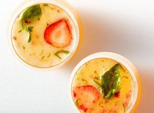 Strawberry Basil Mimosas