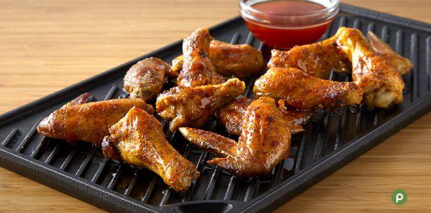 Hot honey chicken wings