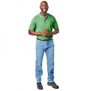 Picture of Publix ADA Field Surveyor wearing blue jeans and a green polo shirt
