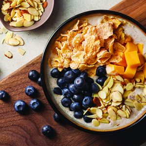 Publix Aprons recipe for Anytime Smoothie Bowl inside of a black bowl