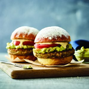 Publix Aprons recipe for Falafel Party Sliders plated on top of wooden cutting board