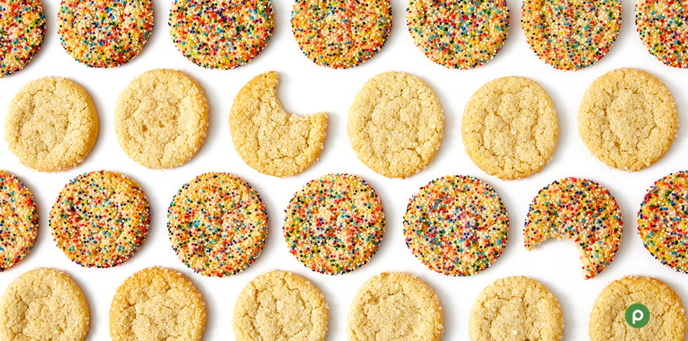 Sugar cookies with bites taken out.
