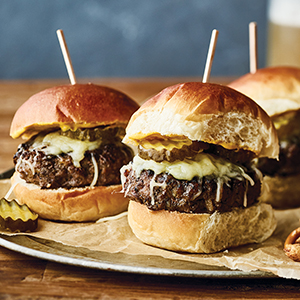 Publix Pub-style beef slider recipe plated.