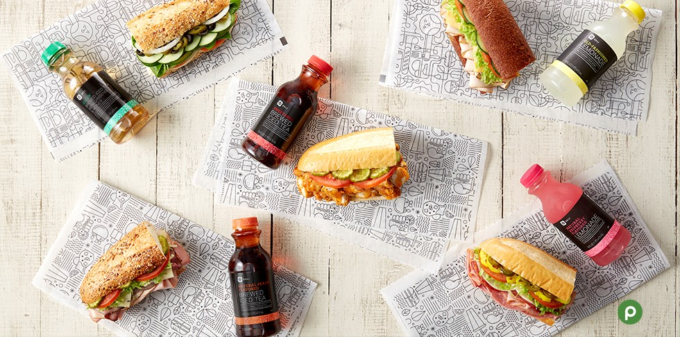 Publix Deli subs paired with Deli teas.