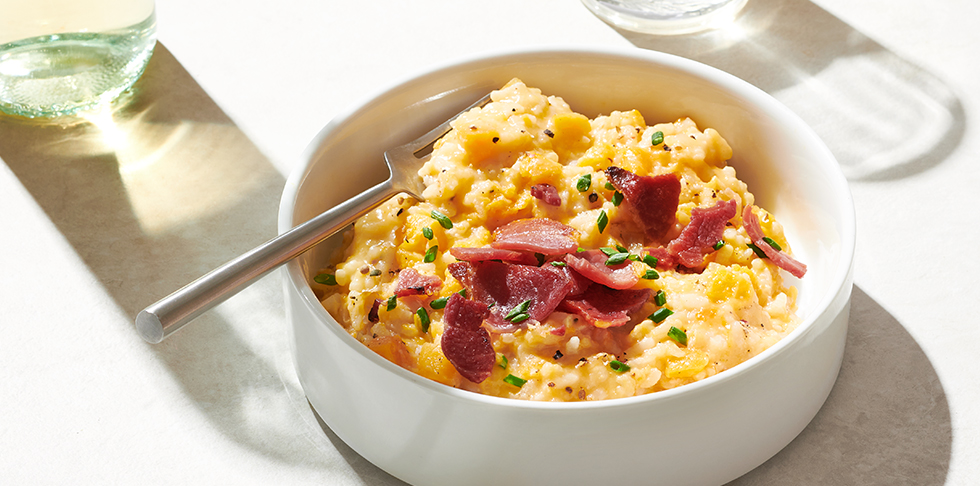 Publix Aprons Butternut Squash Risotto with Pecorino and Crisp Country Ham